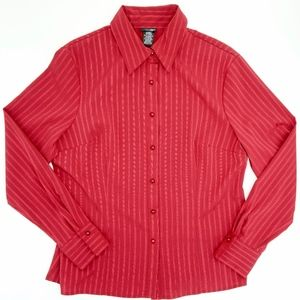 East 5th Vintage Red Button Down Blouse NWOT